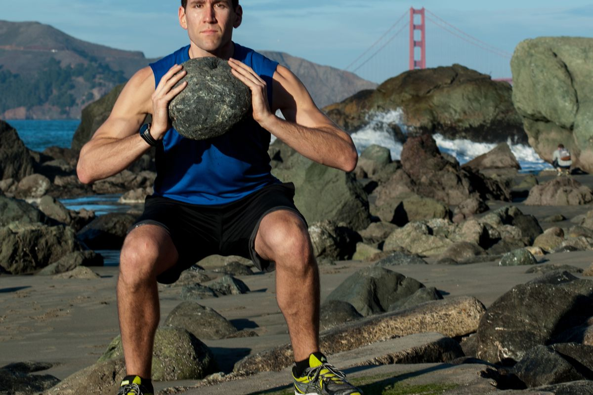 """Want to tone up for the beach? Michael Wilbert recommends lots of squats. Photo via <a href=""""http://www.coastalfit.com"""">Coastal Fit</a>."""