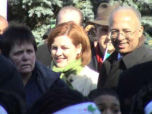 City Council Speaker Christine Quinn's proposed changes to mayoral control are less drastic than Comptroller Bill Thompson's (right). Photo via ##http://www.flickr.com/photos/azipaybarah/2415786468/##Azi's Flickr.##