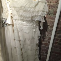 Layered bridal gown, $1,100