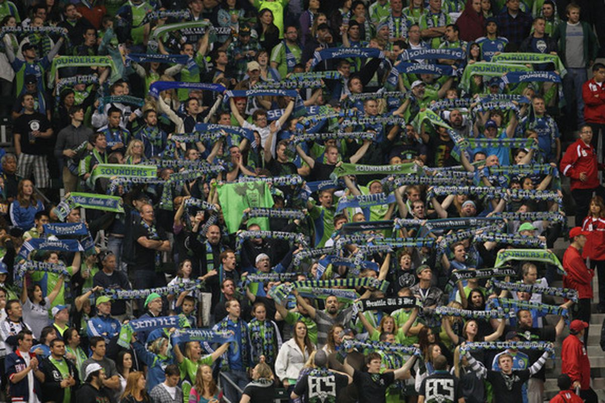 Time to kick the Cascadia rivalry off in style, Sounders fans (Photo by Victor Decolongon/Getty Images)
