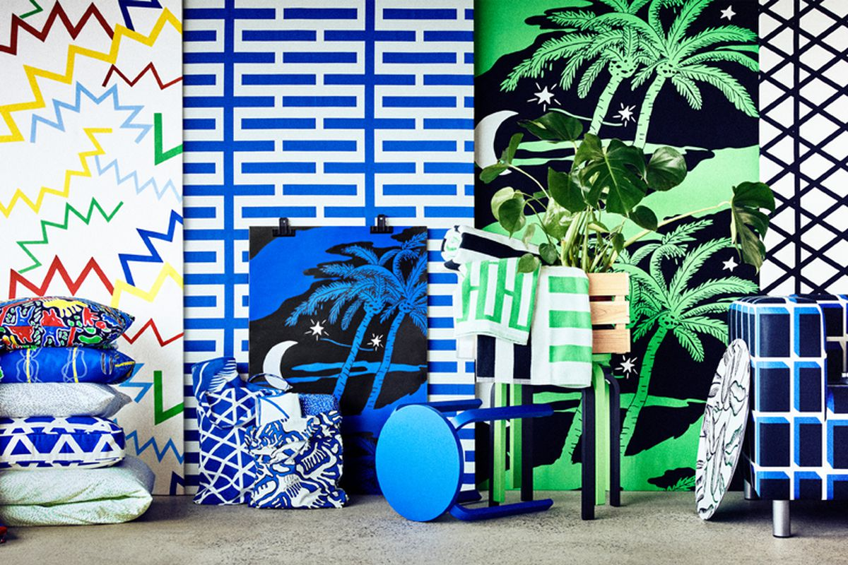 Ikea\'s new collection celebrates bold \'70s textiles - Curbed