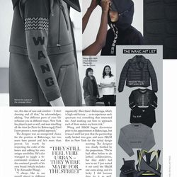 Products in the Wang Hit List: Jacket, $349; Top, $169; Sweater, $70; Crop top, $50; Boots, $199. Image via Vogue Australia