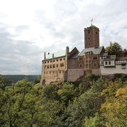 Wartburg Castle, where Martin Luther translated the New Testament to German, in Eisenach, Germany.