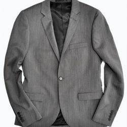 TOPMAN Herringbone Blazer in Grey ($280.00)