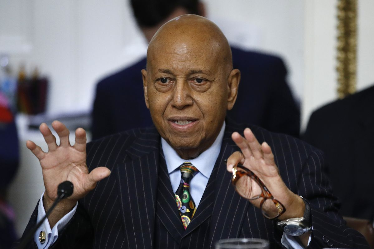 In this Dec. 17, 2019 file photo, Rep. Alcee Hastings, D-Fla., speaks during a House Rules Committee hearing on the impeachment against President Donald Trump on Capitol Hill in Washington. Hastings, the longtime Congressman from Florida has died after a two-year fight with pancreatic cancer.