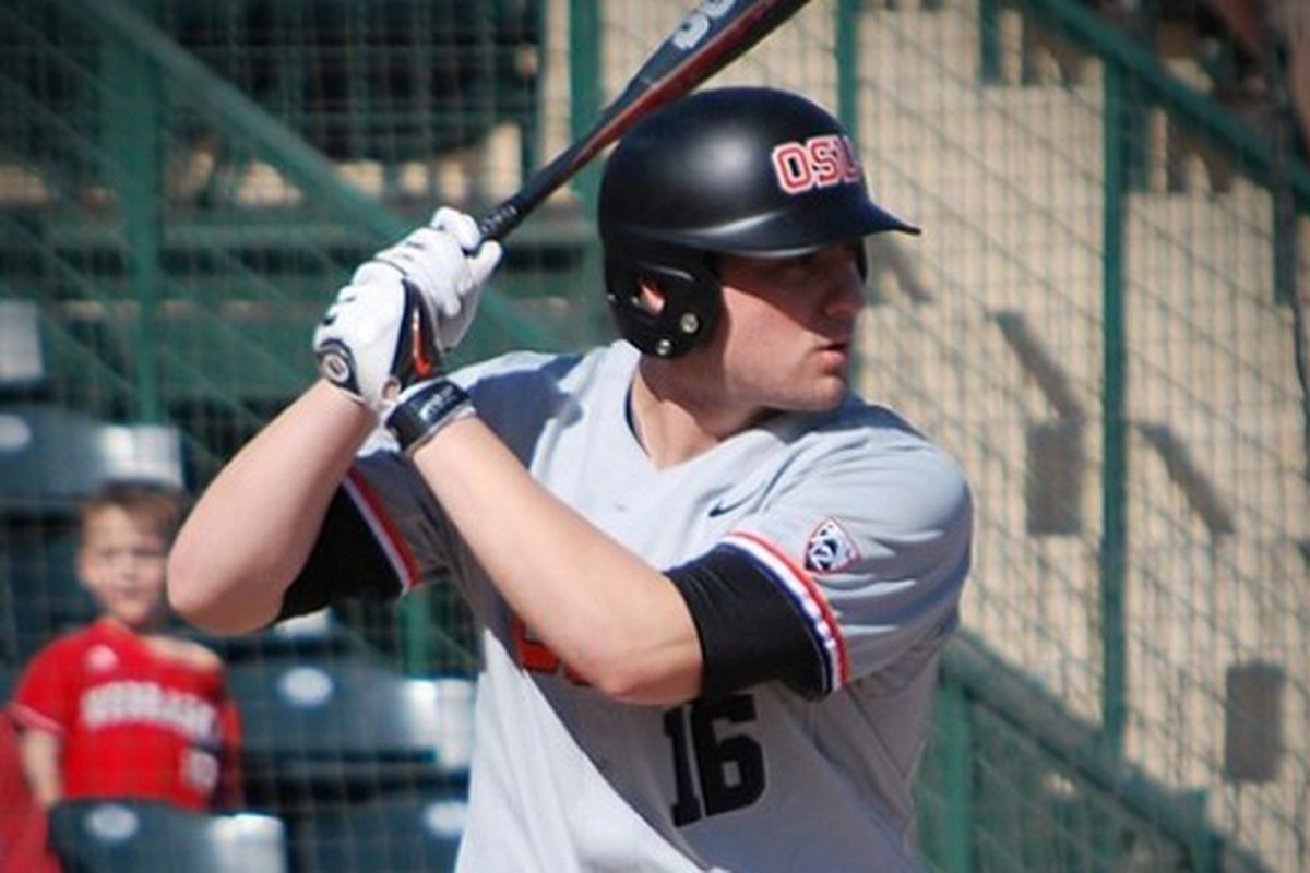 Gabe Clark had multiple 2 RBI hits to lead Oregon St. in their 10-0 win over Northern Illinois.