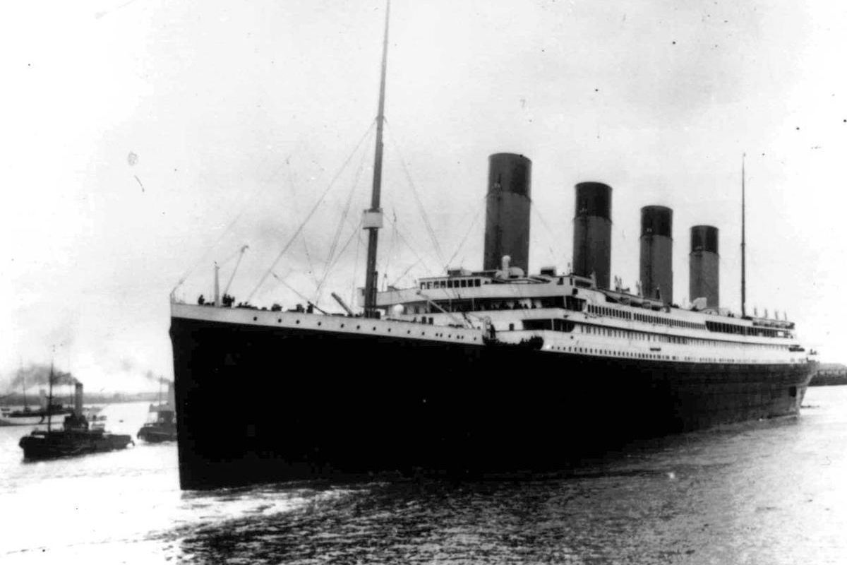 In this April 10, 1912, file photo, the oceanliner Titanic leaves Southampton, England on her maiden voyage. April 15, 2012 is the 100th anniversary of the sinking of the Titanic, just five days after it left for New York.