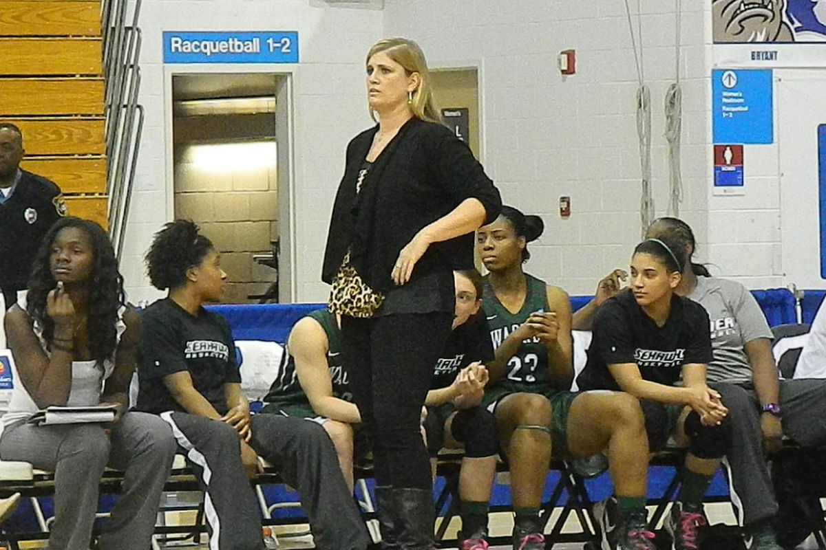 Coach Lisa Cermignano is in the middle of a rebuilding process at Wagner.