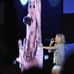 Carrie Underwood sings at the Stadium of Fire at LaVell Edwards Stadium in Provo , Utah, Saturday, July 3, 2010. Matt Gillis, Deseret News