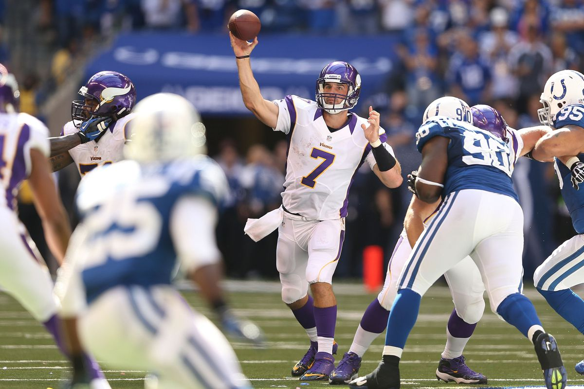 Christian Ponder looks calm, and self-assured for the Vikings this season. (Photo by Andy Lyons/Getty Images)