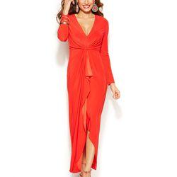 "Thalia Sodi Long-Sleeve High-Low Maxi Dress, <a href=""http://www1.macys.com/shop/product/thalia-sodi-long-sleeve-high-low-maxi-dress?ID=1866752&CategoryID=69907#fn=sp%3D1%26spc%3D102%26ruleId%3D%26slotId%3D1"">$99.50</a>."
