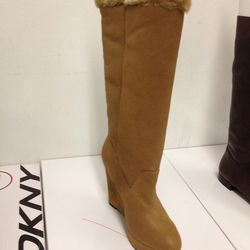 Suede and fur boot ($50)