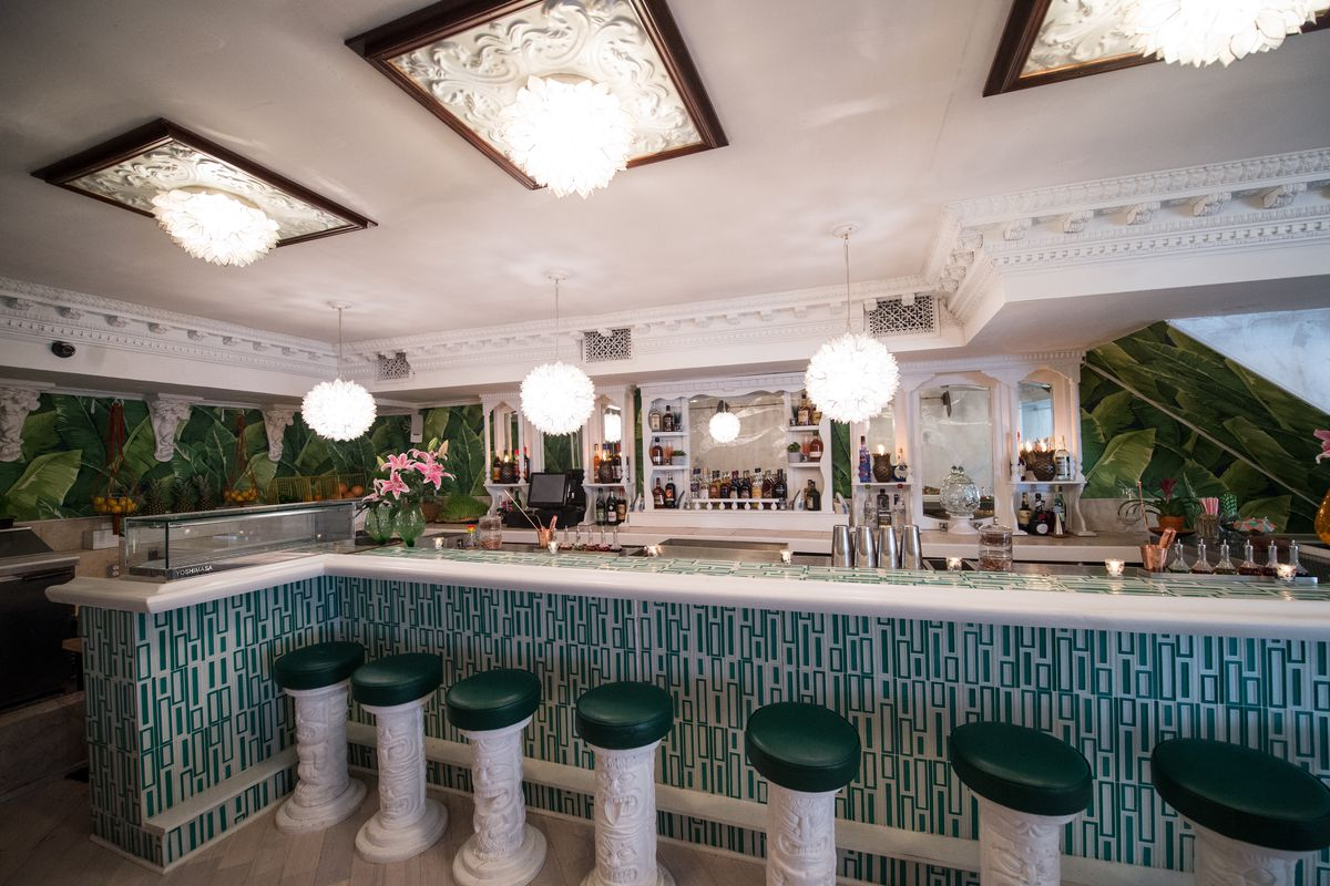 The bar at Mother of Pearl