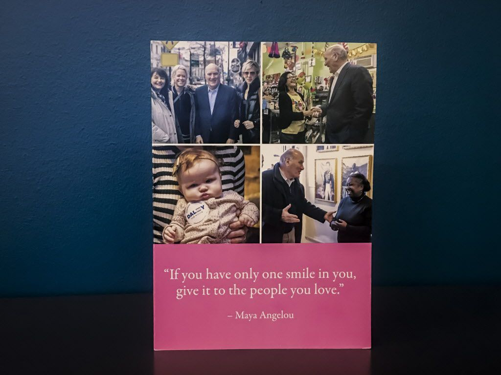 Valentine card sent to Mark Brown's wife from Bill Daley. | Rich Hein/Sun-Times