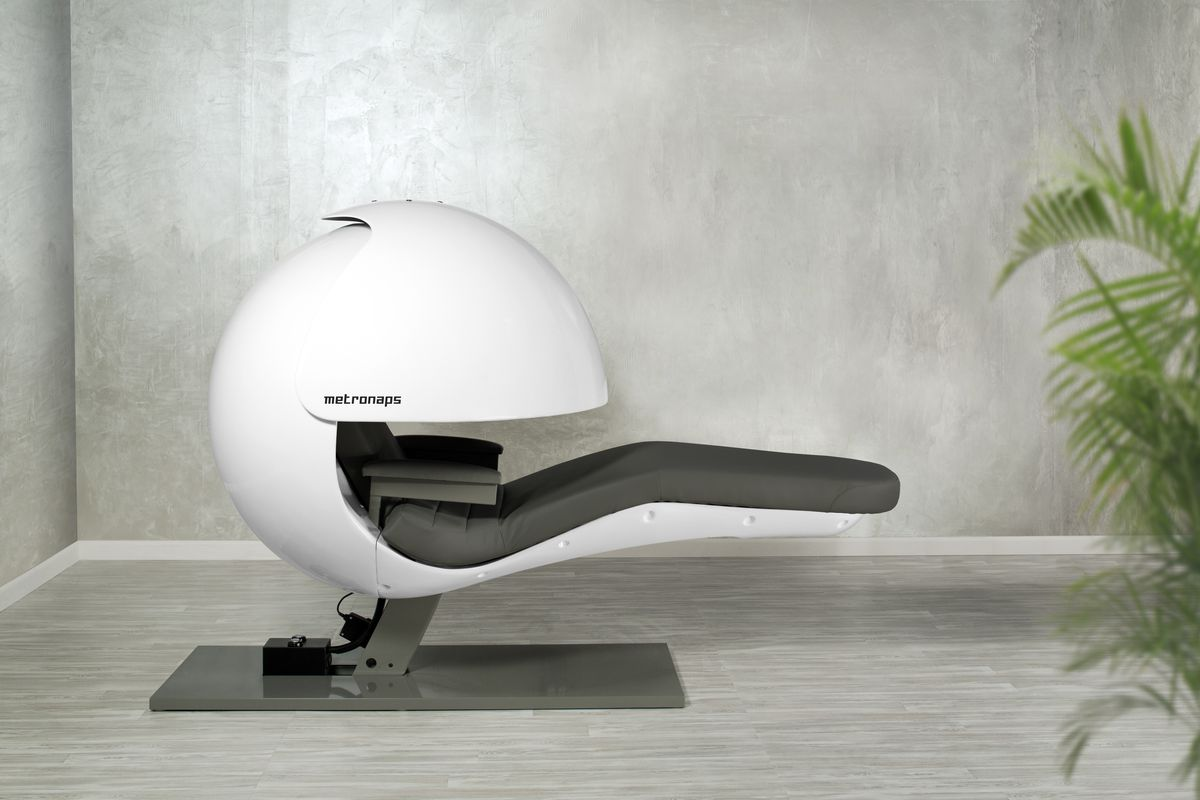 Futuristic Nap Pods Get Upgraded With Sleepy Sounds But