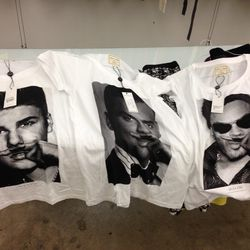 Eleven Paris' famous mustache tees, just $15 a pop. They're few and far between, so hurry because <b>items will not be replenished</b>. As for sizing, there are tons of XS, small, mediums, XL and even XXL. Larges are a bit harder to come by, but they exis