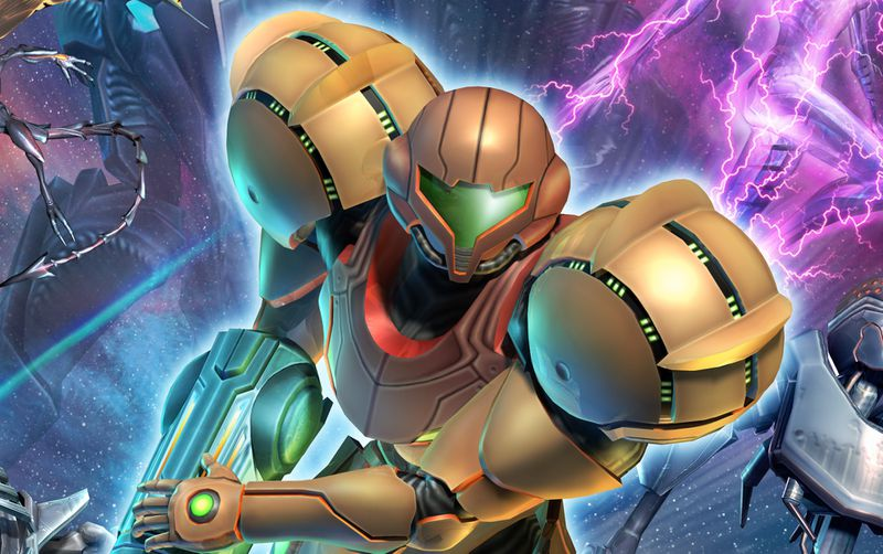 Artwork of Samus Aran from Metroid Prime 3: Corruption.