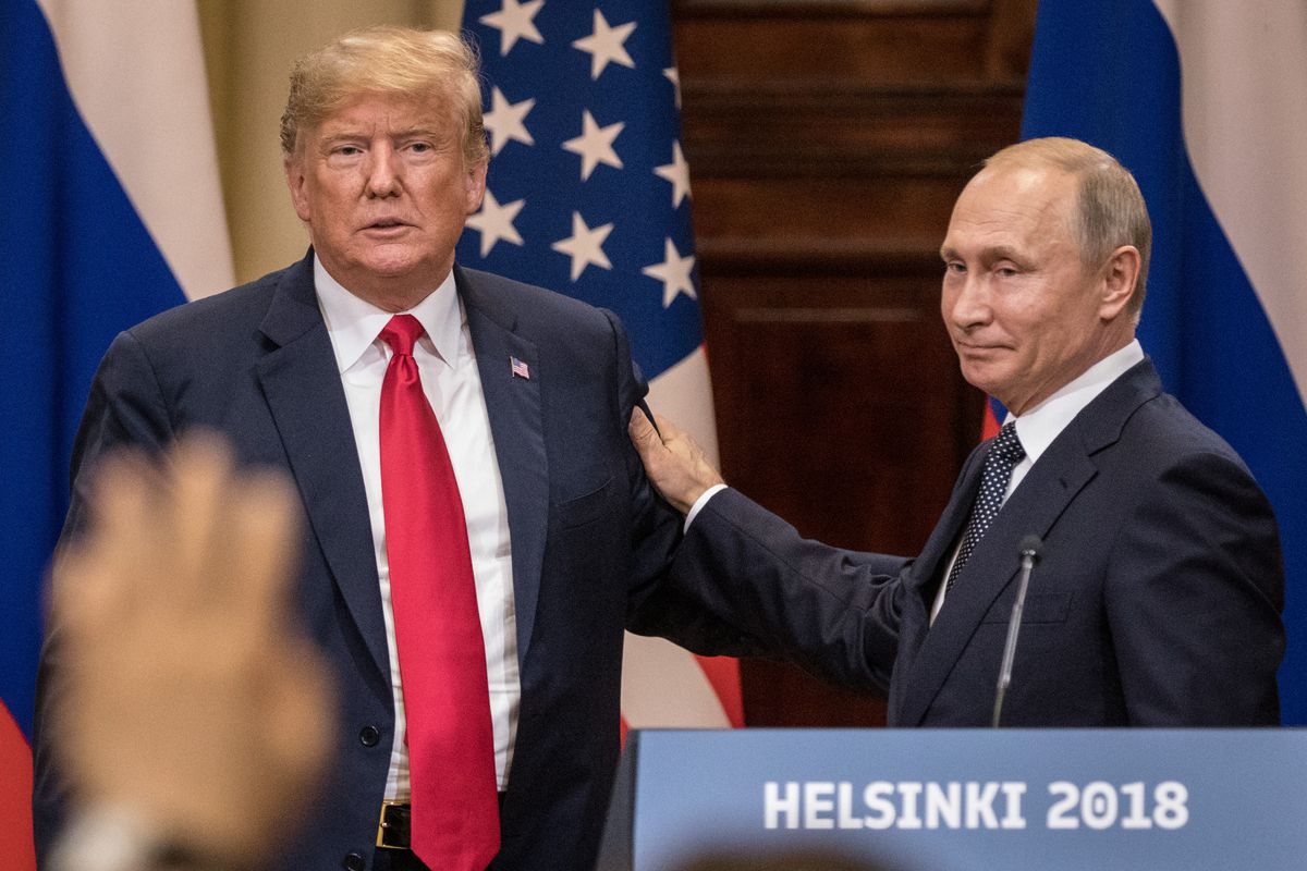 Image result for trump and putin in helsinki pics