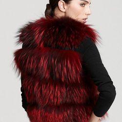 "Christian Cota for Maximilian 17"" Fox Fur Vest ORIG $2,495.00 SALE $1,746.50"