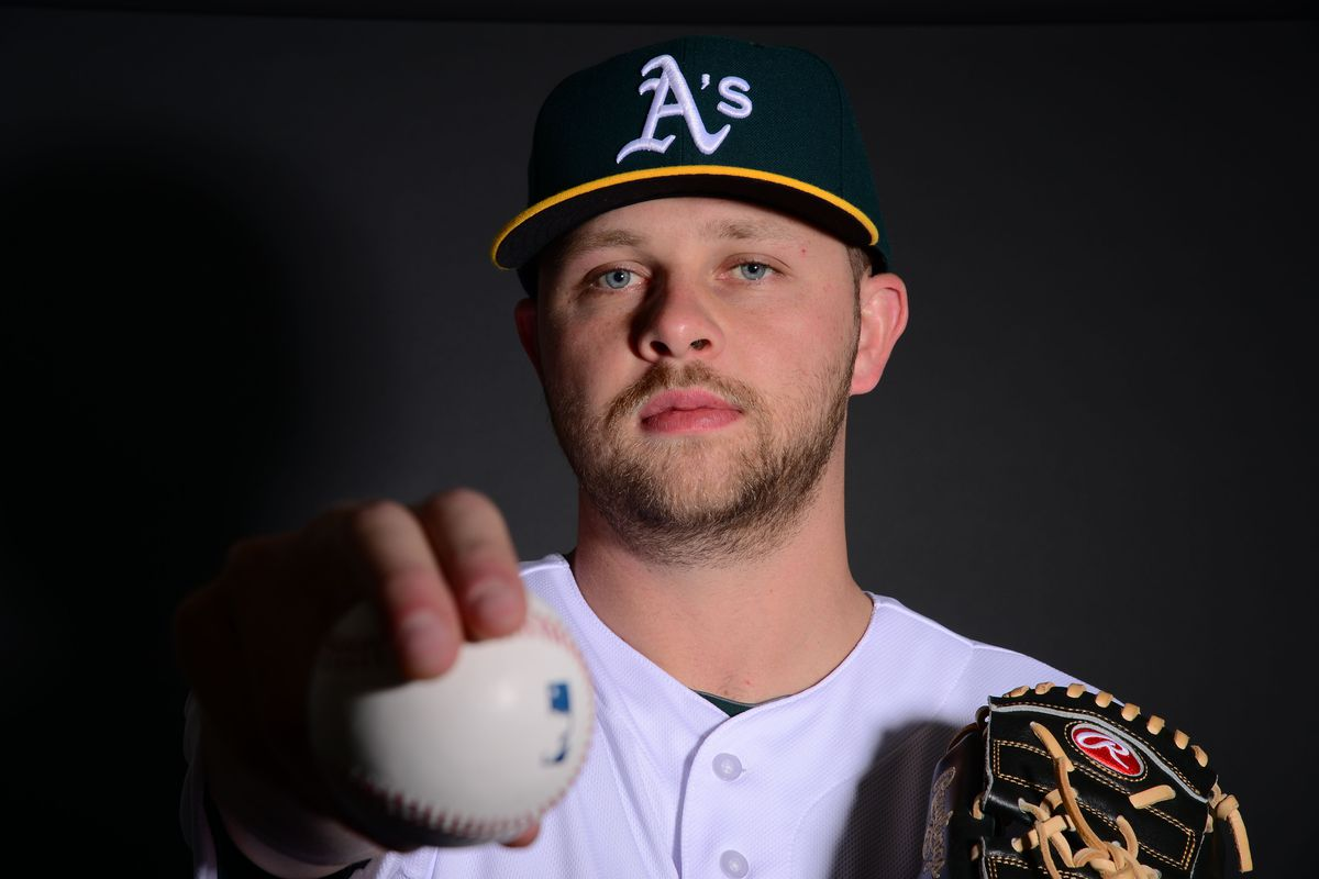 Jesse Hahn, at Oakland A's photo day.
