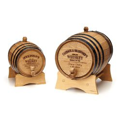 """Personalized Whiskey Barrel, <a href=""""http://www.uncommongoods.com/product/personalized-whiskey-barrel"""">Uncommon Goods</a>, $85-$200."""