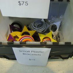Giant plastic bracelets for $15 (also available in large)
