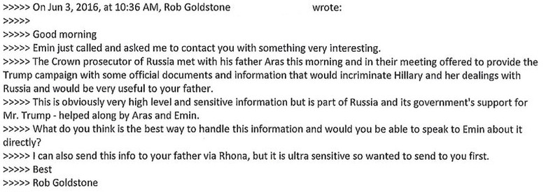 The donald trump jr emails change everything vox goldstone said he was writing at the behest of aras and emin agalarov a father son pair of real estate developers who do business with russia and worked ccuart Gallery