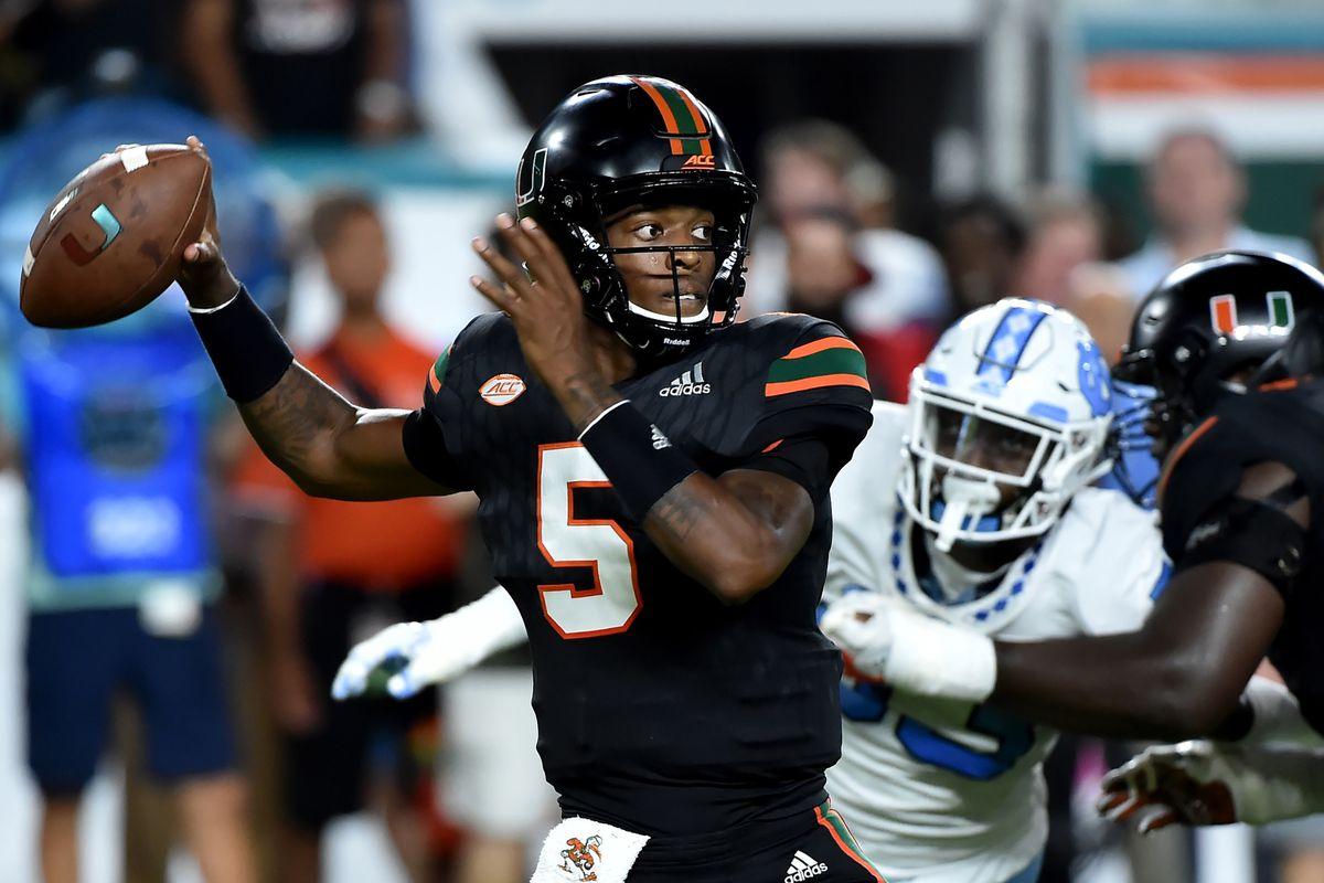 NCAA Football: North Carolina at Miami