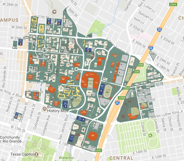 Campus Map Texas Am.How Big Is The Ut Austin Campus It S All Relative Curbed Austin