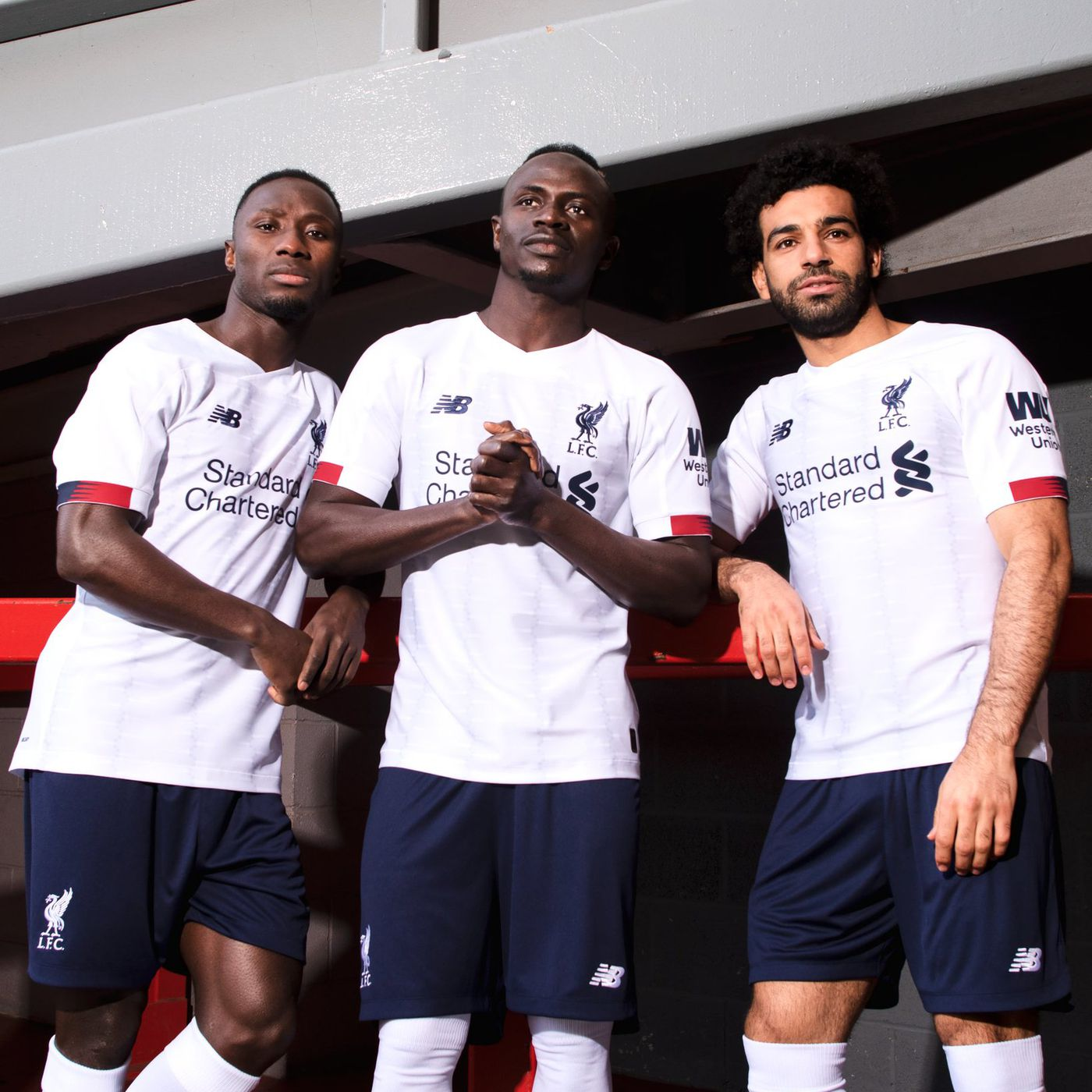 buy popular 37547 1890b Liverpool Release White and Navy Blue Away Kit for 2019-20 ...