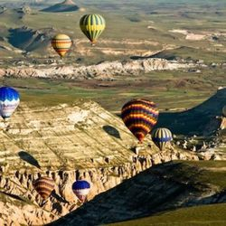 Cappadocia and hot air balloons are synonymous and if you visit without taking a ride you're missing out on a fantastic adventure. Almost everyday, weather permitting, 60-80 balloons ascend into the sky. By 6am your 10,000 feet in the air and if you'r