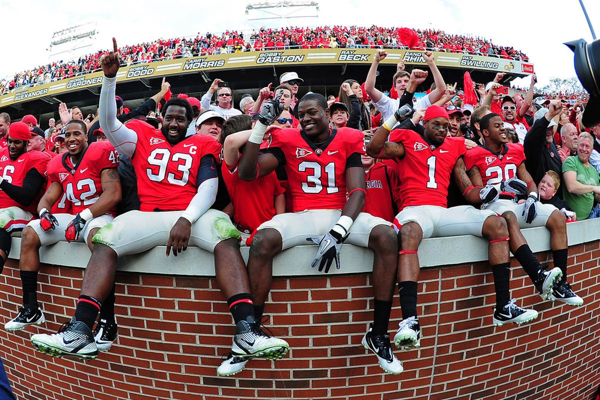 Will Georgia be this happy come Sunday? Not likely, but chaos demands it's victims.