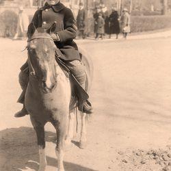 <b>Young Mel Shaw on horseback, 1920.</b>