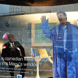 Mike Birbiglia in Macy's Herald Square