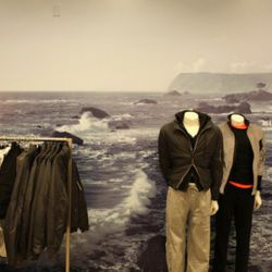 One of the men's displays at Bloomie's at Santa Monica Place