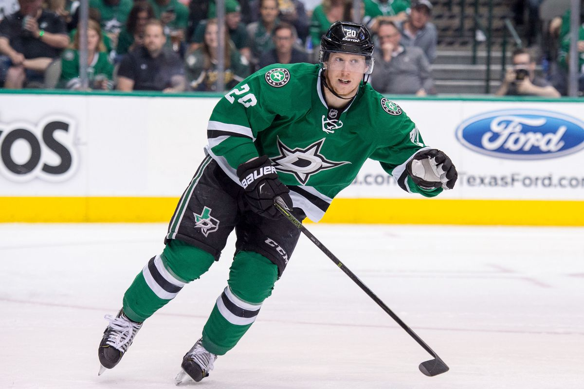NHL: Stanley Cup Playoffs-St. Louis Blues at Dallas Stars, Cody Eakin