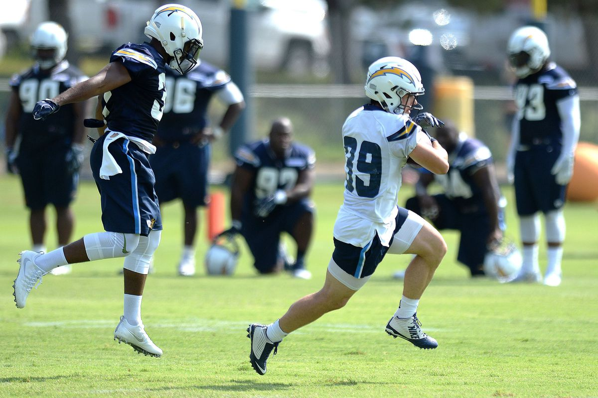 San Diego Chargers RB Danny Woodhead at Training Camp practice