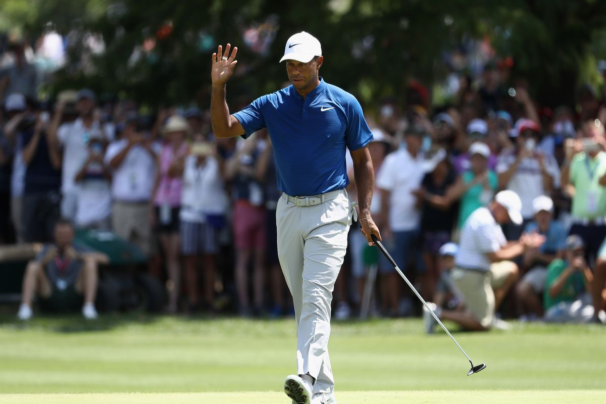 pga championship  tiger woods made his move and has a