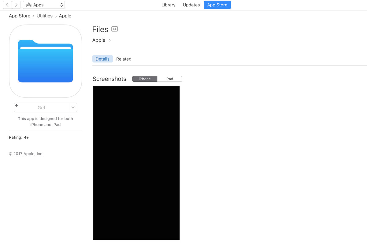 Apple's 'Files' app for iOS 11 appears on App Store ahead of