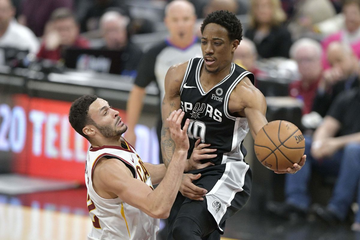 6086b15eef4 San Antonio at Cleveland, Final Score: Spurs blow out Cavs 112-90 ...