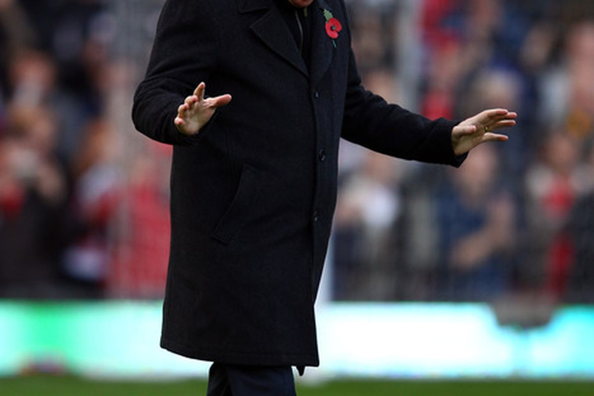 We bow down to you Fergie!!!!  (Photo by Richard Heathcote/Getty Images)