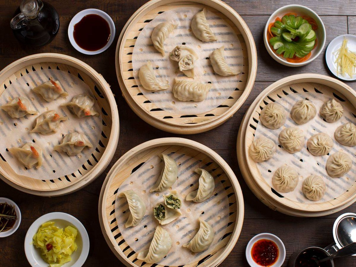 Pictured are dumplings from Dough Zone Dumpling House