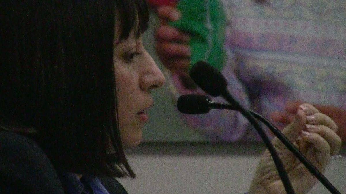 Dougco Superintendent Elizabeth Celania-Fagen responded Wednesday to questions.