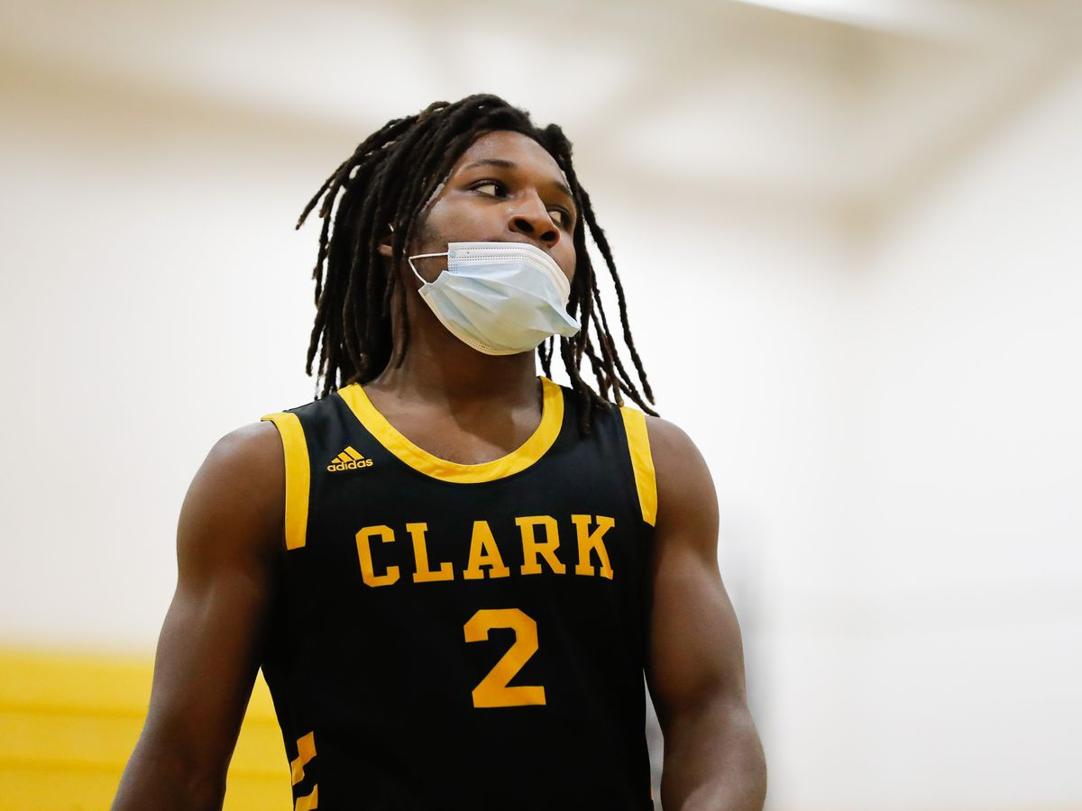Clark's Darrius Perryan (2) looks on during the game against North Lawndale.
