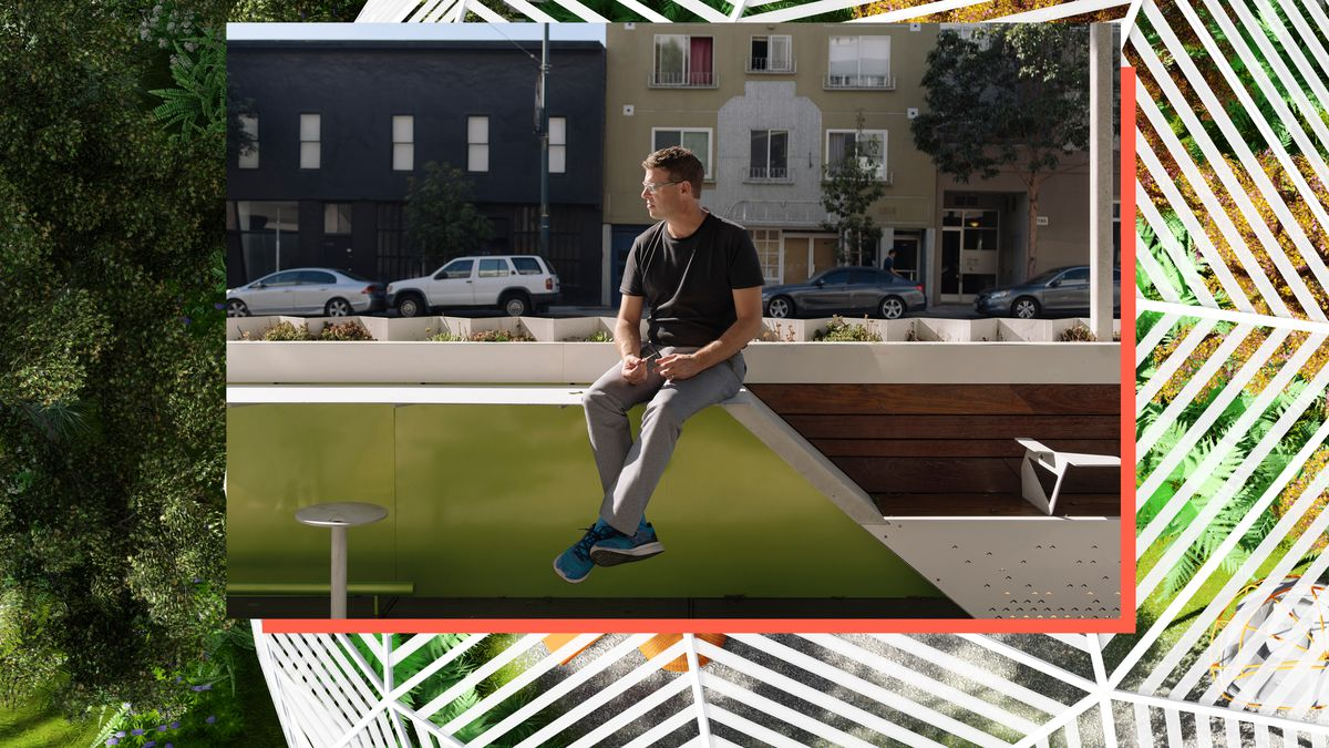 San francisco landscape architecture firms - Marcel Wilson Founder Of Bionic Sitting Atop The Firm S 3rd Street Flash Light Urban Park Project In San Francisco Cayce Clifford