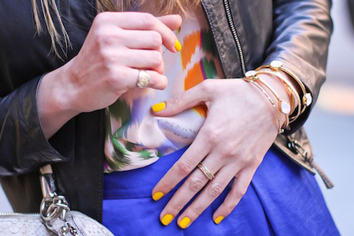 "Image via <a href=""http://www.stylespotting.com/2012/04/11/sneak-peek-thakoon-for-nars-nails-in-amchoor/"">StyleSpotting</a>"