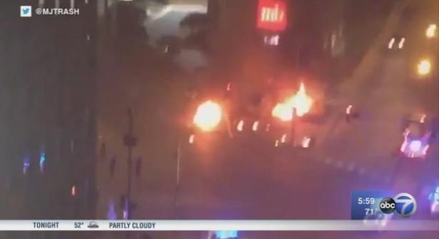 The crash scene in the 400 block of West Ohio.   ABC7 Chicago via Twitter