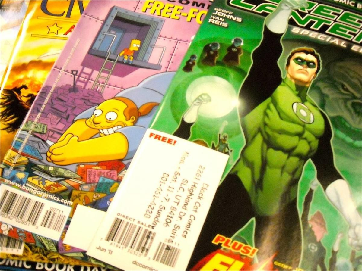 A sampling of some of the free comics available at Black Cat Comics as part of the Free Comic Book Day on Saturday, May 7.
