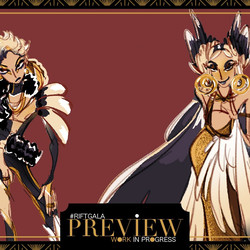 Aphelios and his sister Alune dress for the Rift Gala