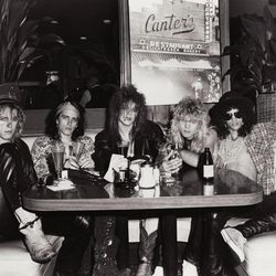 """Guns N Roses at Canter's in 1985. <span class=""""credit""""><em>[Photo: Jack Lue/Michael Ochs Archives/Getty Images]</em></span>"""